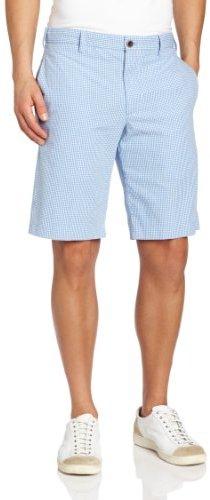 Izod Men's Slim-Fit Gingham Flat-Front Short