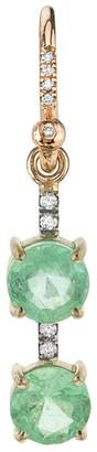 Irene Neuwirth One-Of-A-Kind Double Colombian Emerald Single Earring