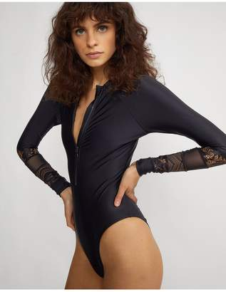 Cynthia Rowley Lace Hepburn Surfsuit