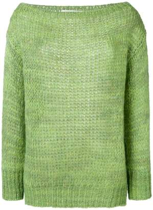 Chiara Bertani loose-knit sweater