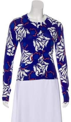 Diane von Furstenberg Long Sleeve Printed Cardigan