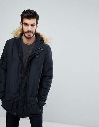 Le Breve Parka with Faux Fur Hood