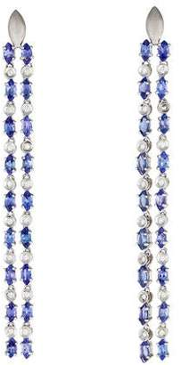 Carla Amorim 18K Tanzanite & Diamond Drop Earrings