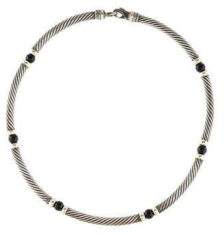 David Yurman Onyx Metro Necklace