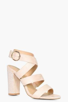 boohoo Niamh Strappy Sandal With Embellished Heel