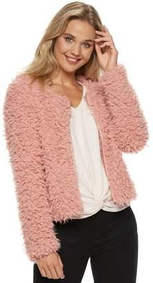 Candies Juniors' Candie's Teddy Faux-Fur Jacket