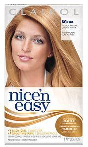 Clairol Nice 'n Easy with Color Blend Technology Permanent Color, Natural Medium Golden Neutral Blonde 8GN/105G