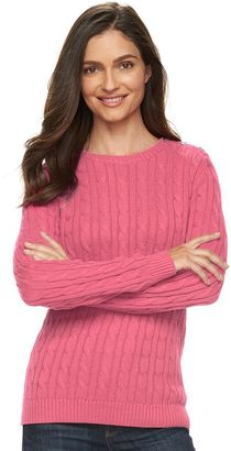 Women's Croft & Barrow® Cable-Knit Crewneck Sweater $36 thestylecure.com