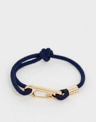 ICON BRAND navy cord bracelet