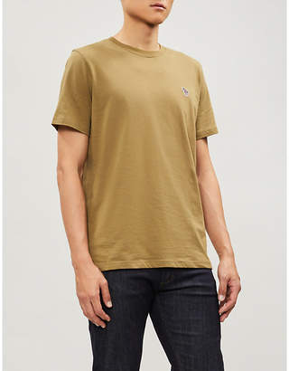 Paul Smith Zebra-embroidered cotton-jersey T-shirt