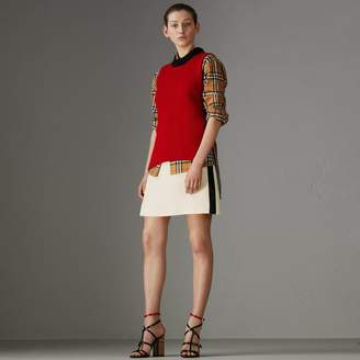 Burberry Stripe Wool Silk Skirt