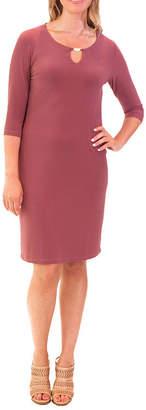 NINA LEONARD Nina Leonard 3/4 Sleeve Social Dress