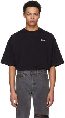 Vetements Black Staff Reflector T-Shirt