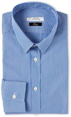 Versace Blue & White Stripe Dress Shirt