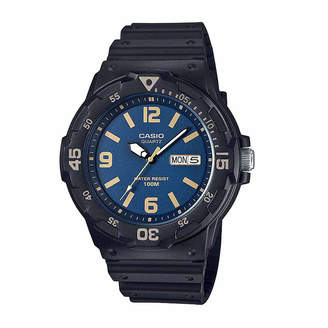 Casio Mens Black Strap Watch-Mrw200h-2b3v