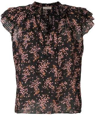 Ulla Johnson floral flutter sleeve blouse