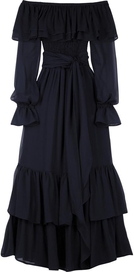 Michael Kors Off-the-shoulder tiered dress