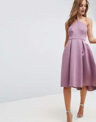 Asos DESIGN Halter Neck Prom Midi Dress
