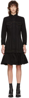 Marques Almeida Black Denim Jacket Dress