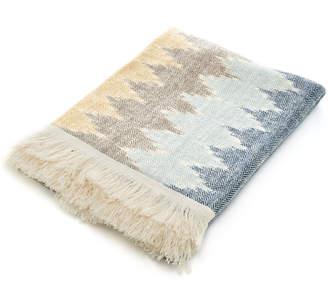 Kashmir Loom Morocco Herringbone Cashmere Throw Blanket