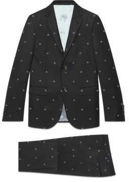 Gucci Monaco bees wool gabardine suit