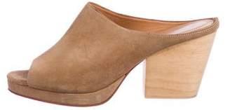 Creatures of Comfort Suede Peep-Toe Sandals