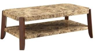 ACME Furniture ACME Dacia Coffee Table, Faux Marble & Brown