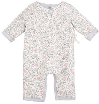 Petit Bateau Taiga Floral Printed Coverall, Baby Girl Size 1-12 Months