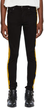 Amiri Black and Yellow Stack Track Jeans
