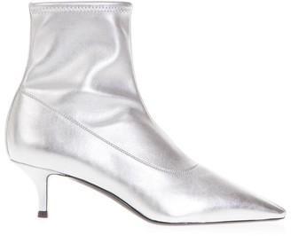 Giuseppe Zanotti Metallic Silver Salome Boots In Leather