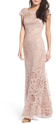 Women's Tadashi Shoji Embroidered Lace Gown $548 thestylecure.com