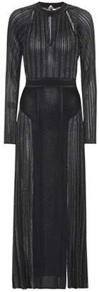 Roberto Cavalli Metallic jersey dress