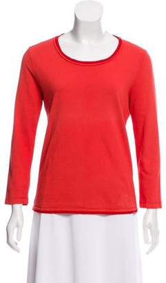 Prada Sport Long Sleeve Scoop Neck Top