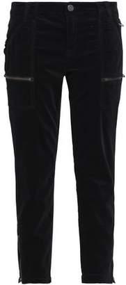 Joie Park Cotton-Blend Velvet Tapered Pants