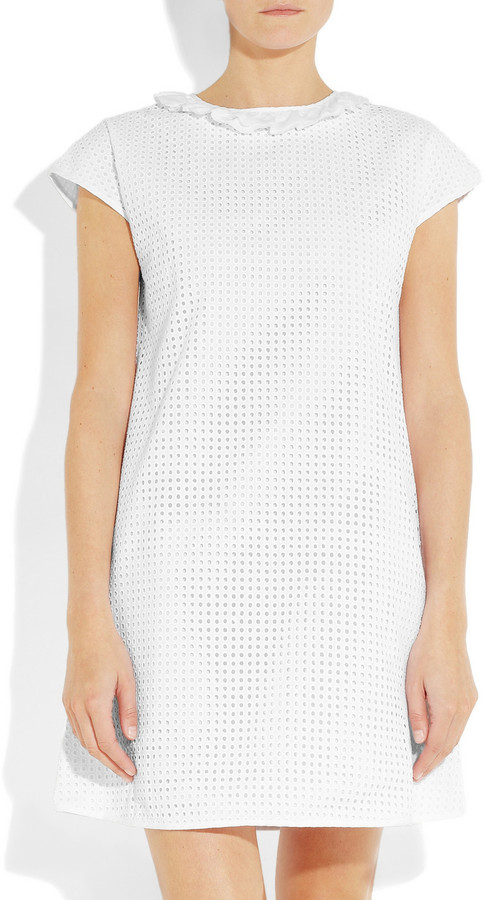 See by Chloe Embroidered cotton mini dress