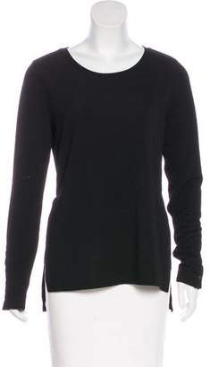 Calvin Klein Slit-Accented Long Sleeve Top