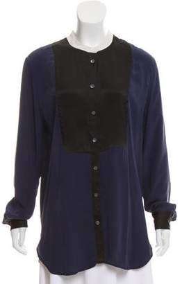 Equipment Silk Mini Button-Up Tunic