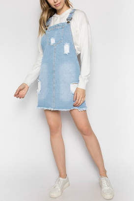 Pretty Little Things Denim Overall Dress