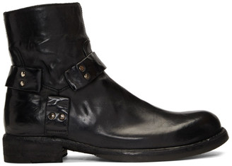 Officine Creative Black Ikon 055 Boots
