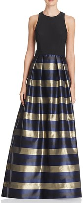 AQUA Striped-Skirt Gown - 100% Exclusive $308 thestylecure.com