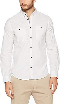 Tom Tailor Men's Floyd Cool Melange Shirt Casual (White 2000)