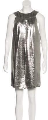 Nicole Miller Metallic Sleeveless Mini Dress