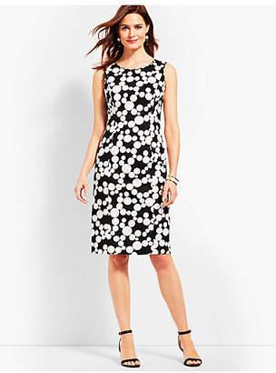 Talbots Scallop-Detail Dot Sheath Dress