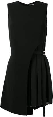 Neil Barrett pleat detail asymmetric dress