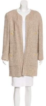 Chanel Tweed Open-Front Coat