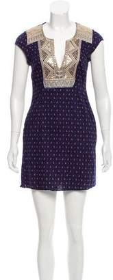 Calypso Printed Embroidered Dress