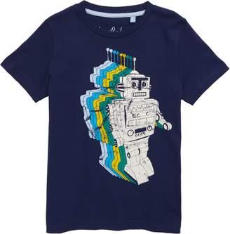 Boden Mini Gradient Robot Graphic T-Shirt