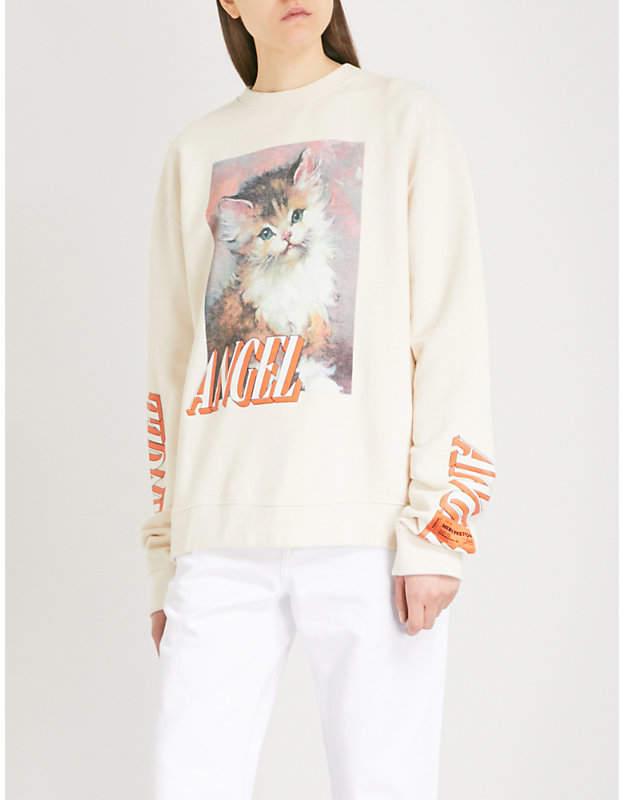 HERON PRESTON Angel cotton-jersey sweatshirt