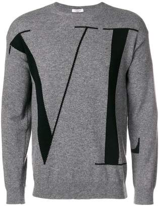 Valentino logo patterned sweater