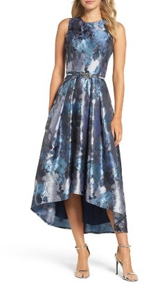Women's Eliza J Jacquard High/low Dress $248 thestylecure.com